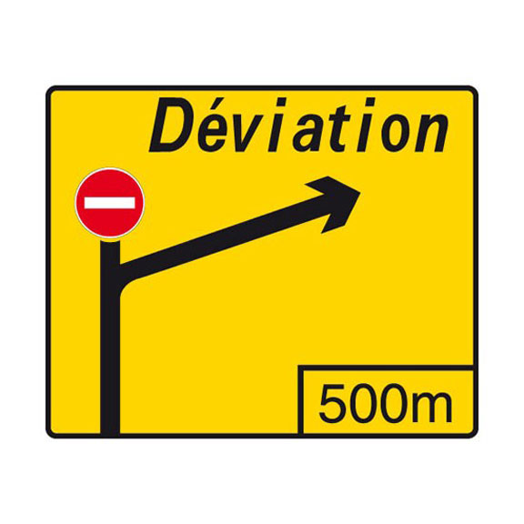advance warning panel deflection